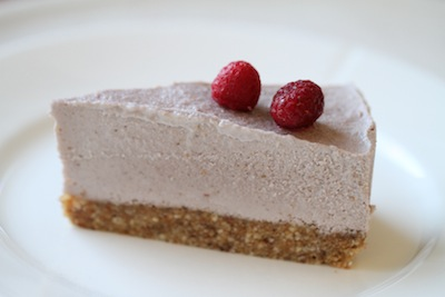 Rå Halloncheesecake