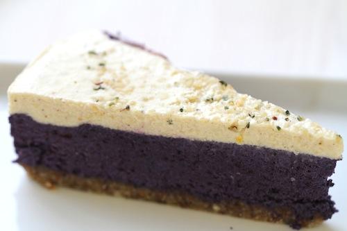 Rå blåbärscheesecake