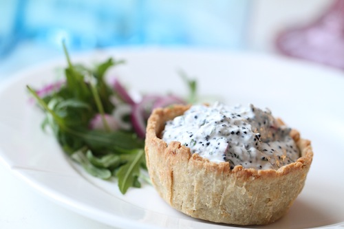 Minipajer med tångkaviar