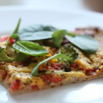 Glutenfri pizza med pesto