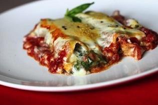 Canneloni med spinat og ost